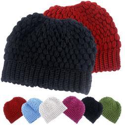 Women's Knitted Hat Warmer Winter Men Women Skullies Beanies