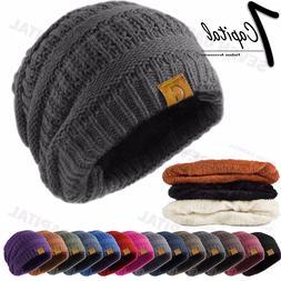 Women's Men Knit Slouchy Baggy Beanie Oversize Winter Hat Sk
