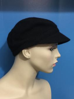 August Accessories Women's My Melton Modboy Hat Black