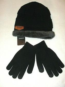 Women's Hindawi Slouchy Beanie Knit Hat & Gloves Set - New w