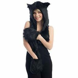 women winter accessories cap faux fur animal