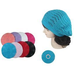Women Winter Spring Summer Baggy Crochet Knit Slouchy Beanie