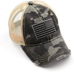 Funky Junque Women's Adjustable Athletic Trucker Hat Mesh