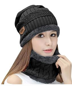 HINDAWI Womens Beanie Winter Hat Scarf Set Slouchy Warm Snow