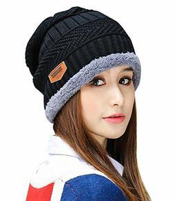HINDAWI Womens Slouchy Beanie Winter Hat Knit Warm Snow Ski