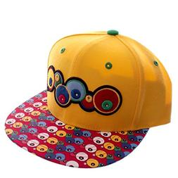 City Hunter Yellow Alien Eyes Snapback